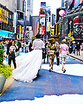 Honey La Bronx and Kitten with a Whip, perform Drag Queen Weddings for equality every saturday from noon to 4pm, attracting many people and explaining to them their wish to have a normal family.