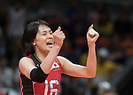 Saori Sakoda (JPN),<br /> AUGUST 8, 2016 - Volleyball : <br /> Women's Preliminary Pool A <br /> between Japan 3-0 Cameroon <br /> at Maracanazinho <br /> during the Rio 2016 Olympic Games in Rio de Janeiro, Brazil.<br /> (Photo by Enrico Calderoni/AFLO SPORT)