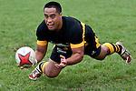 Joe Heta  gets a pass away from  the base of a scrum. Counties Manukau Premier Club Rugby game between Waiuku and Bombay, played at Waiuku on Saturday July 5th 2010. Waiuku won 59 - 14 after trailing 12 - 14 at halftme.