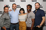 "attends the photo call for the cast and creative team of MCC Theater's New York Premiere of ""Seared"" on September 11, 2019 at Artesia Wine Bar in New York City."