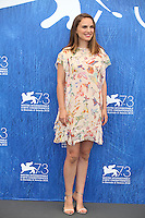 VENICE, ITALY - SEPTEMBER 08: Natalie Portman attend a photocall for 'Planetarium' during the 73rd Venice Film Festival at Palazzo del Casino on September 8, 2016 in Venice, Italy.<br /> CAP/GOL<br /> &copy;GOL/Capital Pictures /MediaPunch ***NORTH AND SOUTH AMERICAS ONLY***