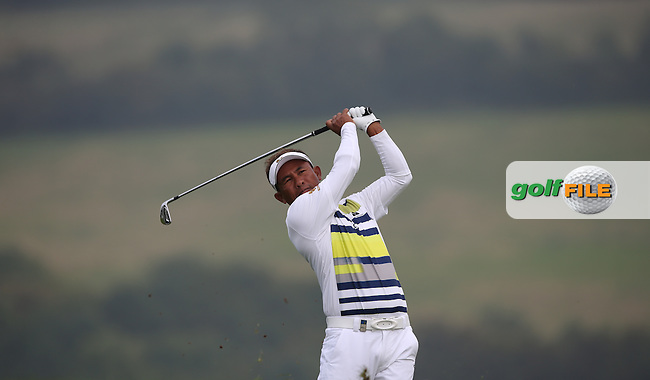 Thongchai Jaidee (THA) gets momentum to catch the leaders during Round Three of the ISPS Handa Wales Open 2014 from the Celtic Manor Resort, Newport, South Wales. Picture:  David Lloyd / www.golffile.ie