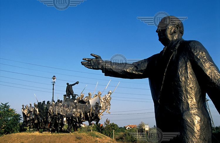 Statue park. Final resting place of many Communist era statues on the outskirts of the city..