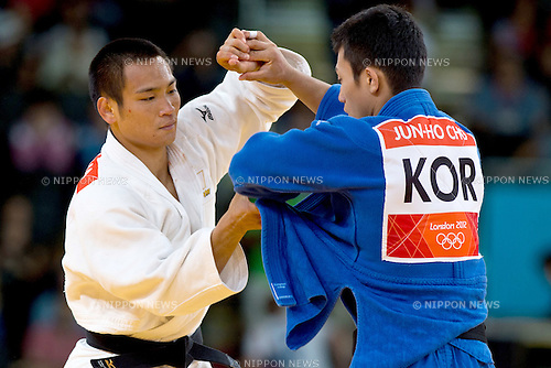 Masashi Ebinuma (JPN), .JULY 29, 2012 - Judo : .Men's -66kg quater-finalat at ExCeL during the London 2012 Olympic Games in London, UK.  . (Photo by Enrico Calderoni/AFLO SPORT)