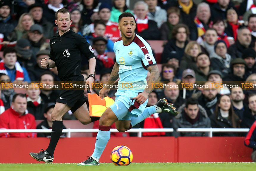 Andre Gray of Burnley during Arsenal vs Burnley, Premier League Football at the Emirates Stadium on 22nd January 2017