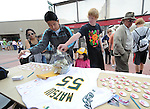 Fans,MARCH 20, 2011 - MLB : Fans donate money to Japan's earthquake victims during a spring training game between the Arizona Diamondbacks and the Oakland Athletics at Phoenix Municipal Stadium in Phoenix, Arizona, USA. (Photo by AFLO)