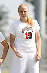 23 September 2007: Ohio State's Lauren Hallauer. The Duke University Blue Devils defeated the Ohio State University Buckeyes 2-1 at Koskinen Stadium in Durham, North Carolina in an NCAA Division I Women's Soccer game, and part of the annual Duke Adidas Classic tournament.