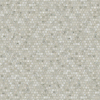 Staggered 1.5 cm, a hand-cut stone mosaic, shown in polished Calacatta Tia.