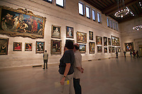 European Oil Painting display hall at The Museum of Fine Arts, Boston, M