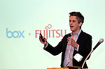 June 8, 2016, Tokyo, Japan - American online storage service giant Box Inc. CEO Aaron Levie speaks at a press conference as Box and Japanese computer giant Fujitsu agreed their partnership in Tokyo on Wednesday, June 8, 2016. Fujitsu and Box will enter a strategic partnership in the content management space and Box will help control data storage expansion costs.   (Photo by Yoshio Tsunoda/AFLO) LWX -ytd-
