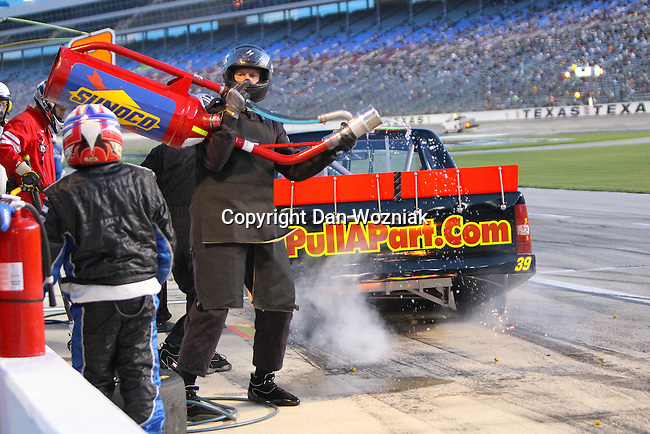 NASCAR Camping World Truck Series driver Ryan Sieg (39) in action during the NCWTS Winstar World Casino 400 race at Texas Motor Speedway in Fort Worth,Texas.