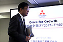 October 18, 2017, Tokyo, Japan - Japan's automaker Mitsubishi Motors (MMC) CEO Osamu Masuko arrives at a press conference to announce the company's mid-term strategy at the MMC headquarters in Tokyo on Wednesday, Octoebr 18, 2017. MMC said three-year plan would target more tha 30 percent increase in unit sales and revenues.    (Photo by Yoshio Tsunoda/AFLO) LWX -ytd-