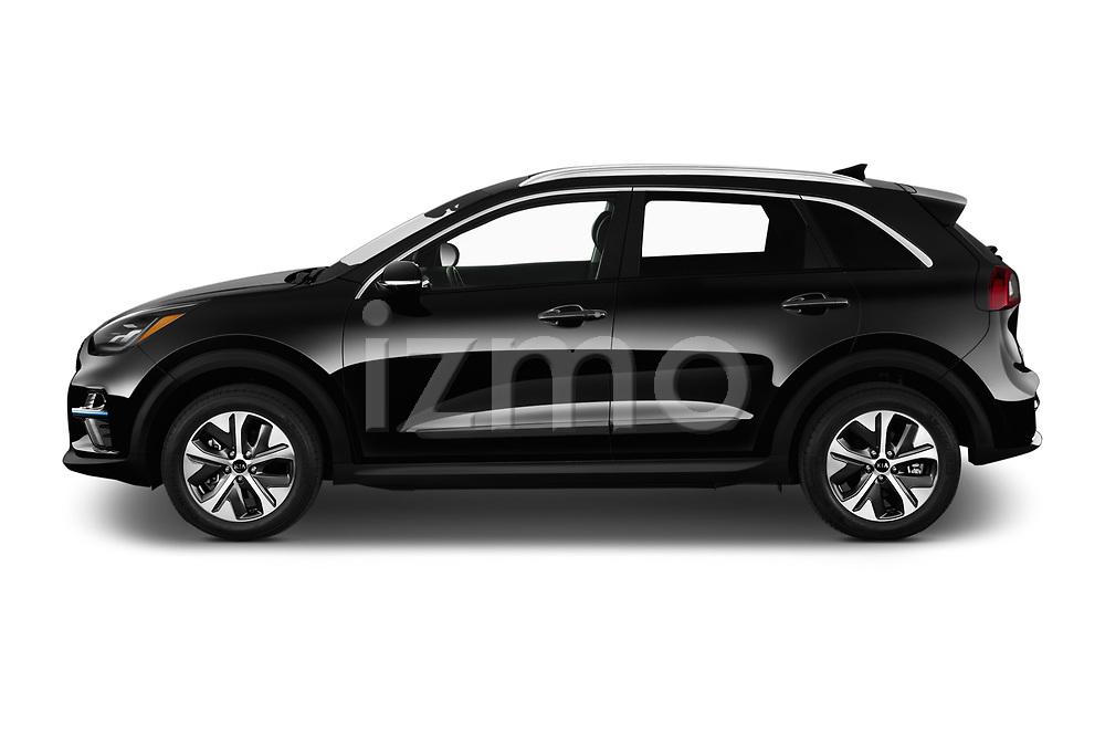 Car driver side profile view of a 2019 KIA Niro-EV  EX-Premium 5 Door Hatchback