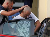 arresto rapinatori presunti assassini di Anatolij Korol supermercato di castello di cisterna <br /> nella foto Marco Di Lorenzo