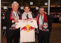 John Rooney with Red Bulls staff at the 2011 MLS Superdraft, in Baltimore, Maryland on January 13, 2010.
