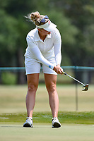 Nanna Koerstz Madsen (DEN) reacts to barely missing her birdie putt on 4 during round 4 of the 2019 US Women's Open, Charleston Country Club, Charleston, South Carolina,  USA. 6/2/2019.<br /> Picture: Golffile | Ken Murray<br /> <br /> All photo usage must carry mandatory copyright credit (© Golffile | Ken Murray)