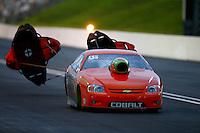 Jun 20, 2015; Bristol, TN, USA; NHRA pro stock driver Dave River during qualifying for the Thunder Valley Nationals at Bristol Dragway. Mandatory Credit: Mark J. Rebilas-