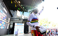 Picture by Simon Wilkinson/SWpix.com - 30/09/2018 - Cycling 2018 Road Cycling World Championships Innsbruck-Tirol, Austria - Men's Elite Road Race - Alejandro Valverde of Spain signs the world champions jersey.