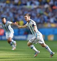 FUSSBALL WM 2014  VORRUNDE    GRUPPE F     Argentinien - Iran                         21.06.2014  JUBEL;  Lionel Messi (Argentinien)  bejubelt seinen Treffer zum 1:0