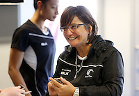 07.10.2015 Silver Ferns coach Waimarama Taumaunu at the naming of the Silver Ferns squad for the upcoming series against Australia. Mandatory Photo Credit ©Michael Bradley.