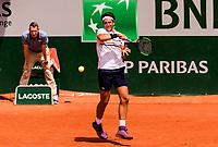 ELLIOT BENCHETRIT (FRA)<br /> <br /> TENNIS - FRENCH OPEN - ROLAND GARROS - ATP - WTA - ITF - GRAND SLAM - CHAMPIONSHIPS - PARIS - FRANCE - 2018  <br /> <br /> <br /> <br /> &copy; TENNIS PHOTO NETWORK