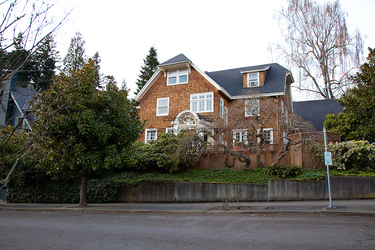 The Portland, Oregon home of Wendy Burden, author of  the memoir, Dead End Gene Pool.  The view of the house from the street.