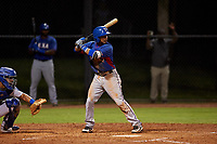AZL Rangers Derwin Barreto (8) at bat during an Arizona League game against the AZL Dodgers Mota at Camelback Ranch on June 18, 2019 in Glendale, Arizona. AZL Dodgers Mota defeated AZL Rangers 13-4. (Zachary Lucy/Four Seam Images)
