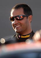 Apr 19, 2007; Avondale, AZ, USA; Nascar Nextel Cup Series driver Juan Pablo Montoya (42) during qualifying for the Subway Fresh Fit 500 at Phoenix International Raceway. Mandatory Credit: Mark J. Rebilas