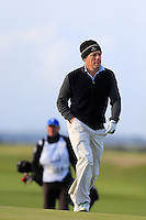 Hugh Grant (AM) during the final round of the Alfred Dunhill links Championship Old Course, St Andrews, Fife, Scotland.<br /> Picture Fran Caffrey www.golffile.ie