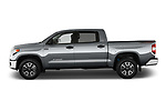Car Driver side profile view of a 2017 Toyota Tundra TRD-Pro-4WD-Crew-Max-Short-Bed 4 Door Pickup Side View