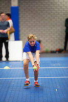 Rotterdam,Netherlands, December 15, 2015,  Topsport Centrum, Lotto NK Tennis, ballkids selection for ABNAMROWTT<br /> Photo: Tennisimages/Henk Koster