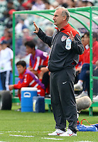 USA coach Kazbek Tambi..FIFA U17 Women's World Cup Final, USA v Korea DPR, Albany Stadium, Auckland, New Zealand, Sunday 16 November 2008. Photo: Renee McKay/PHOTOSPORT