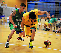 Action from the National Basketball Championships tournament match between Hutt Valley and Waitakere B at Te Rauparaha Arena, Wellington, New Zealand on Friday, 14 November 2014. Photo: Dave Lintott / lintottphoto.co.nz