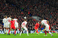 Gareth Bale of Wales takes a free kick during the UFEA Nations League B match between Wales and Denmark at The Cardiff City Stadium in Cardiff, Wales, UK. Friday 16 November 2018