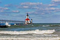 64795-02708 St. Joseph North Pier Lighthouses St. Joseph, MI