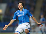 St Johnstone FC Season 2013-14<br /> Rory Fallon<br /> Picture by Graeme Hart.<br /> Copyright Perthshire Picture Agency<br /> Tel: 01738 623350  Mobile: 07990 594431