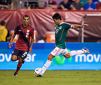 Edgar Castillo, Antonio Naelson. The USMNT tied Mexico, 1-1, during their game at Lincoln Financial Field in Philadelphia, PA.