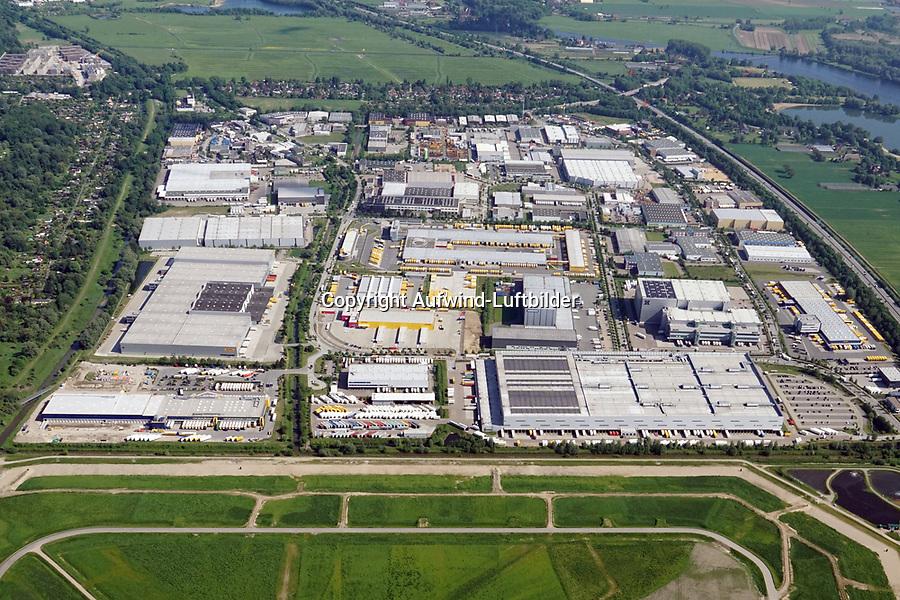 Gewerbegebiet  Allermoehe: EUROPA, DEUTSCHLAND, HAMBURG, (EUROPE, GERMANY), 26.05.2017: Gewerbegebiet  Allermoehe, Allermöhe
