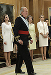 King Juan Carlos of Spain, attend the official ceremony to named his son FelipeVI as chief commander of the spanish military forces. June 19 ,2014. (ALTERPHOTOS/EFE/Pool)