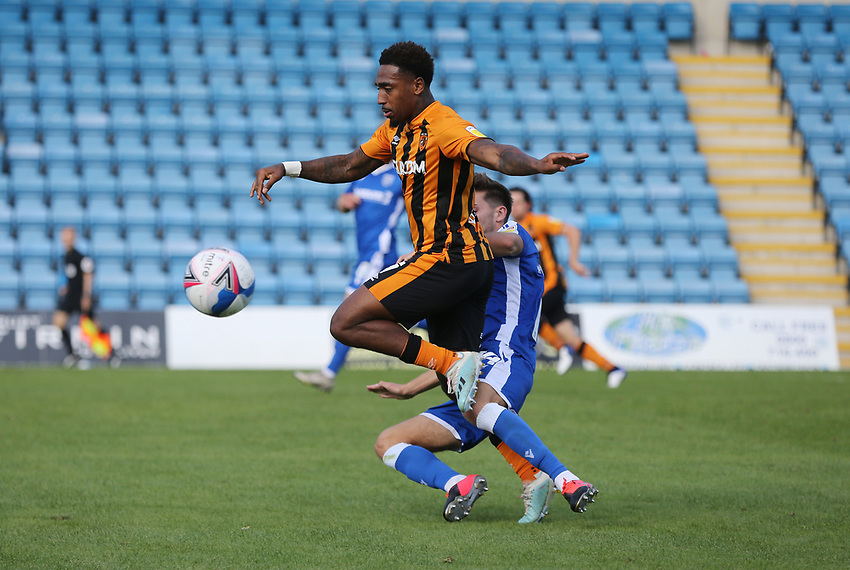 Hull City's Mallik Wilks<br /> <br /> Photographer Rob Newell/CameraSport<br /> <br /> The EFL Sky Bet League One - Gillingham v Hull City - Saturday September 12th 2020 - Priestfield Stadium - Gillingham<br /> <br /> World Copyright © 2020 CameraSport. All rights reserved. 43 Linden Ave. Countesthorpe. Leicester. England. LE8 5PG - Tel: +44 (0) 116 277 4147 - admin@camerasport.com - www.camerasport.com