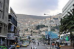 A partial view of downtown Nablus, West Bank.