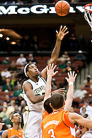 February 25, 2010:     Jacksonville center Will Alston (35) goes up for a shot during Atlantic Sun Conference action between the Jacksonville Dolphins and the Campbell Camels at Veterans Memorial Arena in Jacksonville, Florida.  Jacksonville defeated Campbell 65-52.