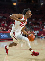 NWA Democrat-Gazette/BEN GOFF @NWABENGOFF <br /> Gabe Osabuohien of Arkansas in the first half vs Tusculum Friday, Oct. 26, 2018, during an exhibition game in Bud Walton Arena in Fayetteville.