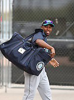 Chone Figgins. Seattle Mariners spring training workouts at the Mariners spring training facilities in Peoria, AZ - 02/27/2010.Photo by:  Bill Mitchell/Four Seam Images.