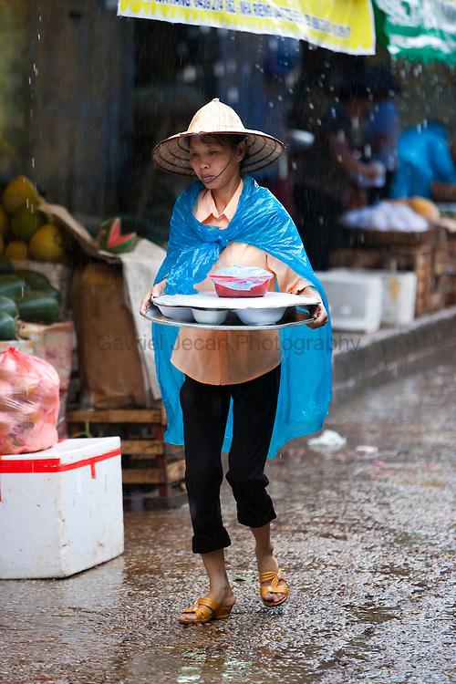 Market scene in Hanoi