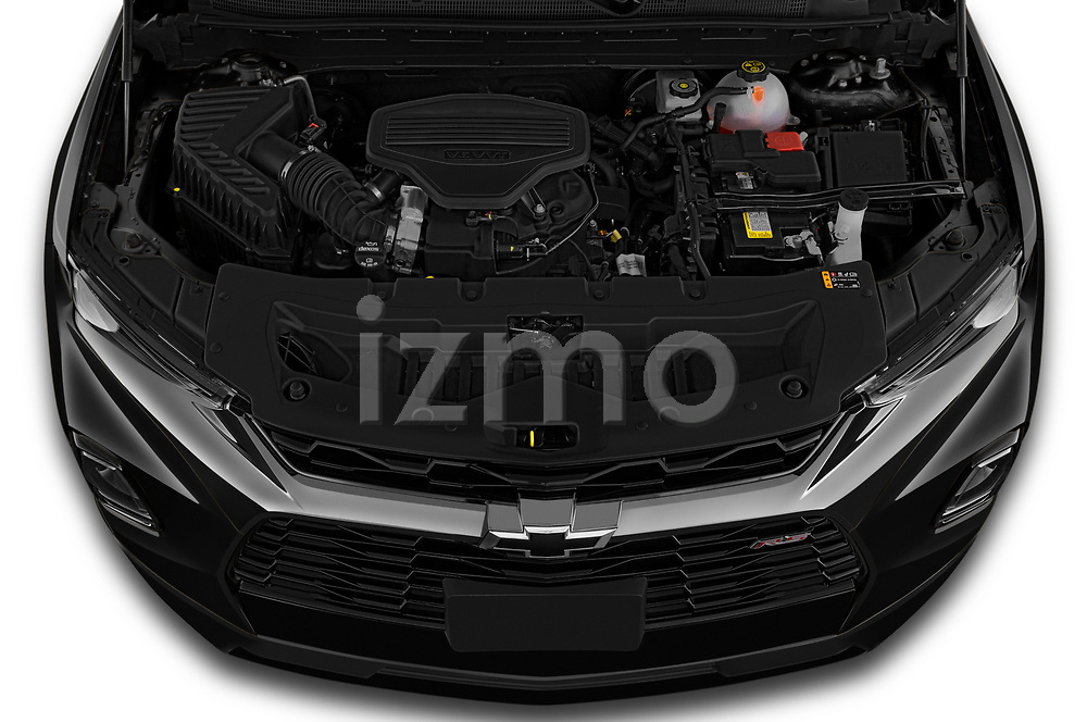 Car Stock 2020 Chevrolet Blazer RS 5 Door SUV Engine  high angle detail view