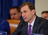 """Daniel Goldman, attorney for the Democrats, questions Marie """"Masha"""" Yovanovitch, former United States Ambassador to Kyiv, Ukraine, on behalf of the US Department of State, as she testifies during the US House Permanent Select Committee on Intelligence public hearing as they investigate the impeachment of US President Donald J. Trump on Capitol Hill in Washington, DC on Friday, November 15, 2019. Credit: Ron Sachs / CNP/AdMedia"""