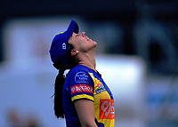 Otago's Lisa Griffith reacts to Rachel Priest's six during the women's Dream11 Super Smash cricket match between the Wellington Blaze and Otago Sparks at Basin Reserve in Wellington, New Zealand on Saturday, 21 December 2019. Photo: Dave Lintott / lintottphoto.co.nz