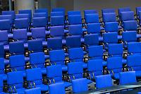 Sitzung des Deutschen Bundestag am Donnerstag den 21. Februar 2019.<br /> Im Bild: Leere Plaetze im Plenum.<br /> 21.2.2019, Berlin<br /> Copyright: Christian-Ditsch.de<br /> [Inhaltsveraendernde Manipulation des Fotos nur nach ausdruecklicher Genehmigung des Fotografen. Vereinbarungen ueber Abtretung von Persoenlichkeitsrechten/Model Release der abgebildeten Person/Personen liegen nicht vor. NO MODEL RELEASE! Nur fuer Redaktionelle Zwecke. Don't publish without copyright Christian-Ditsch.de, Veroeffentlichung nur mit Fotografennennung, sowie gegen Honorar, MwSt. und Beleg. Konto: I N G - D i B a, IBAN DE58500105175400192269, BIC INGDDEFFXXX, Kontakt: post@christian-ditsch.de<br /> Bei der Bearbeitung der Dateiinformationen darf die Urheberkennzeichnung in den EXIF- und  IPTC-Daten nicht entfernt werden, diese sind in digitalen Medien nach §95c UrhG rechtlich geschuetzt. Der Urhebervermerk wird gemaess §13 UrhG verlangt.]