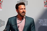 LOS ANGELES - OCT 14:  Ben Affleck at the Kevin Smith And Jason Mewes Hand And Footprint Ceremony at the TCL Chinese Theater on October 14, 2019 in Los Angeles, CA